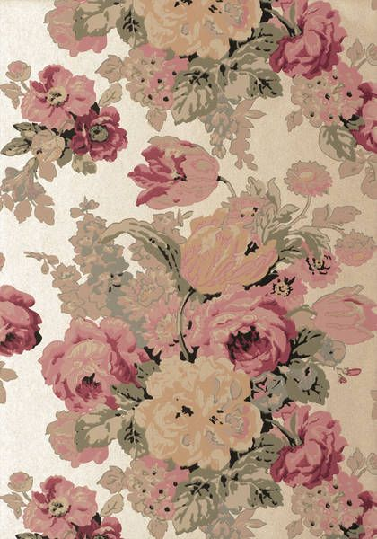 Bouquet Gold Wallpaper Wild Flora Anna French