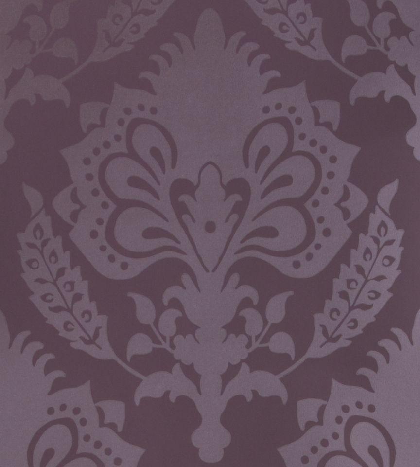 malatesta damask - aubergine wallpaper | david hicks | gp & j baker
