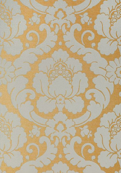 Marlow Aqua On Metallic Gold Wallpaper Serenade Anna French