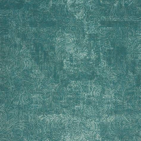 Cachimere Turquoise Wallpaper Majestic Casadeco