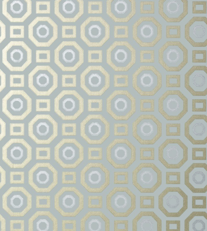 Zane Metallic On Aqua Wallpaper Seraphina Wallpaper Anna French