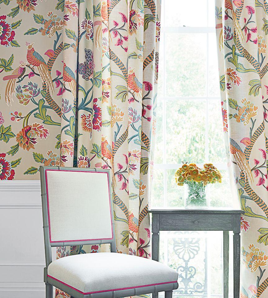 Thibaut Fabrics And Wallpapers: Janta Bazaar - Flax Wallpaper