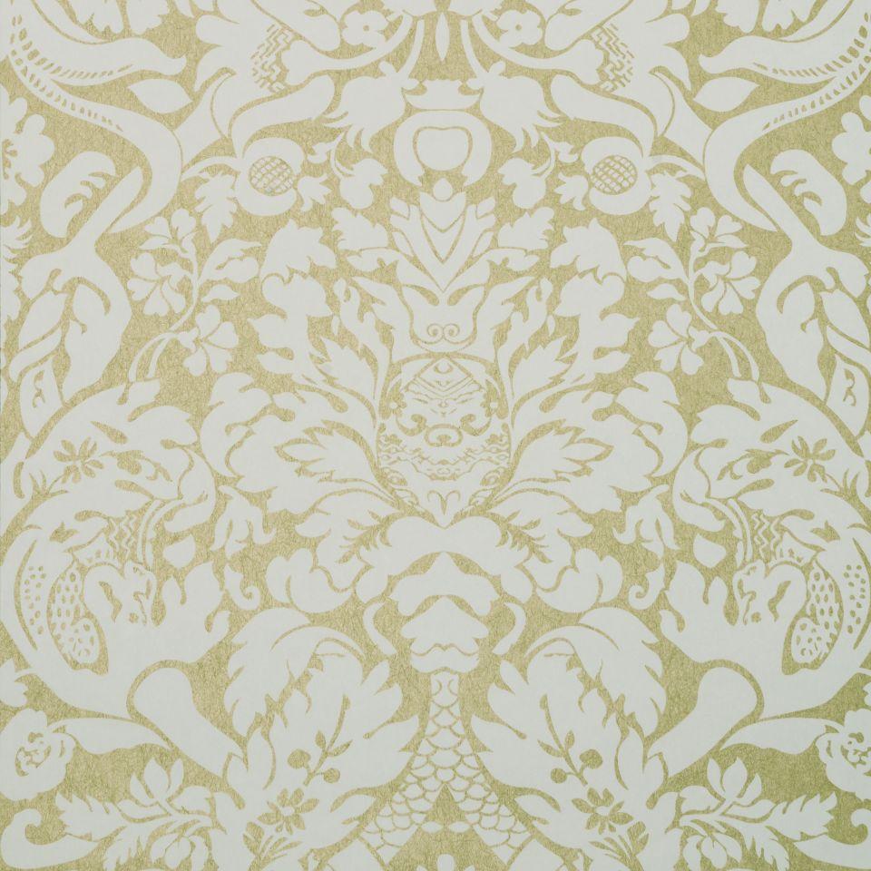 valentina - gold wallpaper | colony | clarke and clarke
