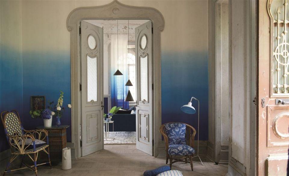 Saraille Cobalt wallpaper Contarini Wallpaper