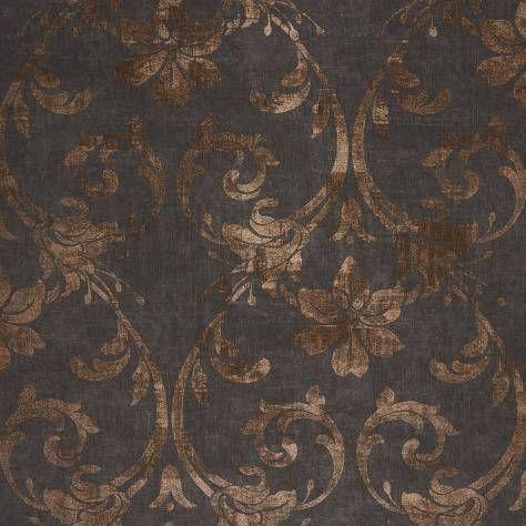 Art Nouveau Noir Copper Wallpaper Majestic Casadeco
